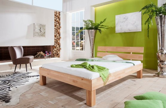 Massief beuken houten bed Ibiza