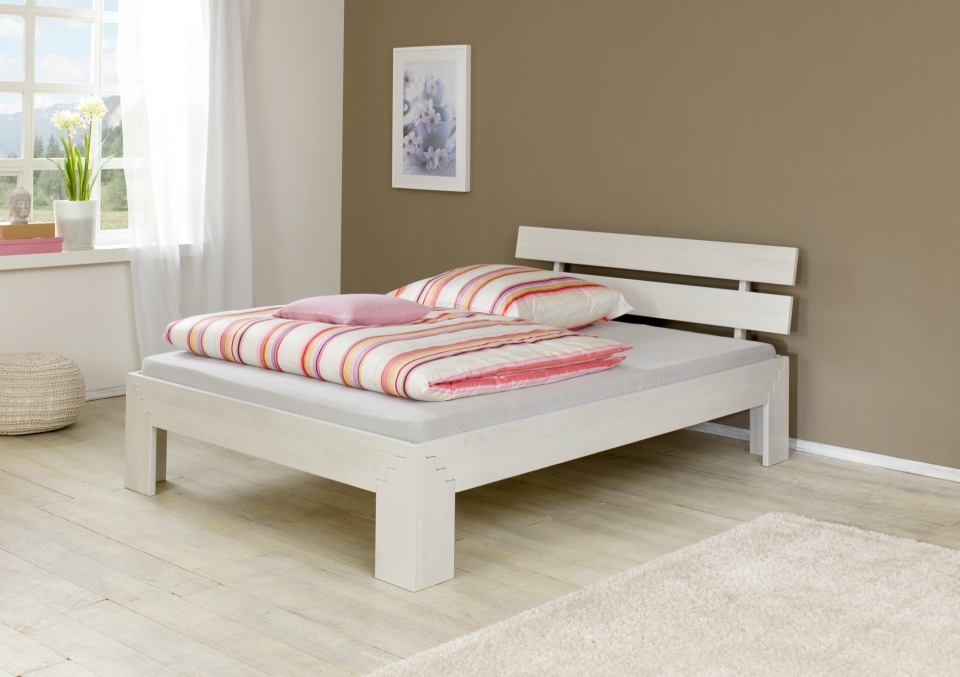 Wit Houten Bed 140x200.Houten Bed 140x200 Wlc18 Tlyp