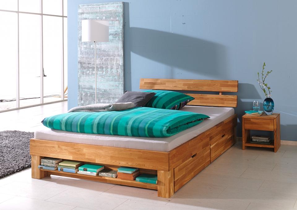 Massief Houten Bed 140x200.Tweepersoonsbed Jeri Bed Van Massief Hout Bedroomshop