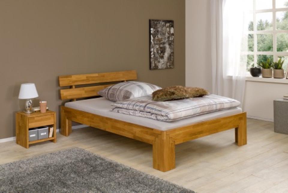 Massief Houten Bed 140x200.Massief Houten Tweepersoonsbed Mallorca Bedroomshop Nl